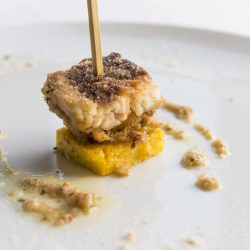 La tinca al forno in versione street food di Andrea Martinelli e Mauro Begni della Trattoria del Muliner