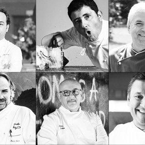 Giuseppe D'Aquino, Pietro D'Agostino, Walter Ferretto, Marco Sacco, Claudio Sadler ed Emanuele Scarello per Italian Gourmet
