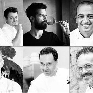 Tommaso Arrigoni, Eros Picco, Andrea Bartolini, Pino Cuttaia, Pietro Leemann, Luca Marchini e Luigi Pomata per Italian Gourmet