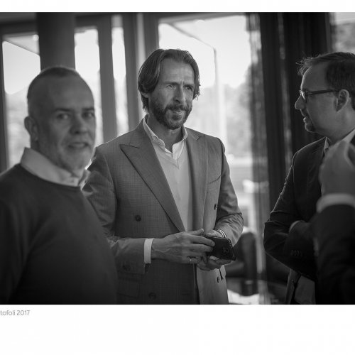 Marcello Bruschetti, Costantino Gabardi e Lorenzo Martinelli, direttore generale di Omkafè