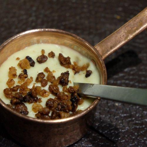 Il purè di patate affumicate e ciccioli di wagyu