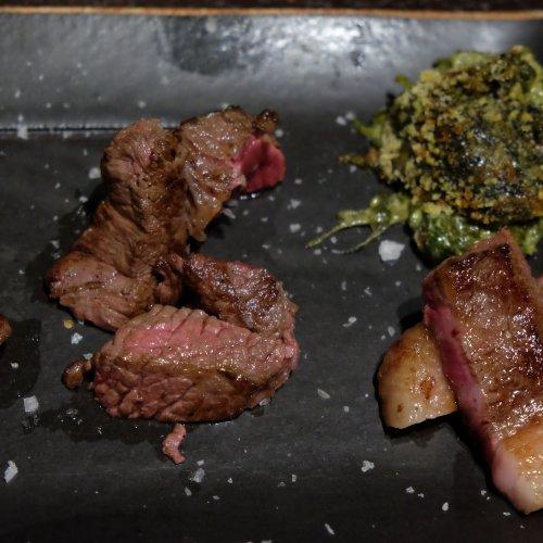 L'orizzontale di diversi tagli di wagyu: asado, picanha, reale e ribeye
