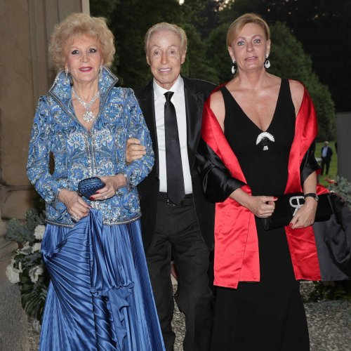 Marinella di Capua con Renato Balestra e la figlia Federica